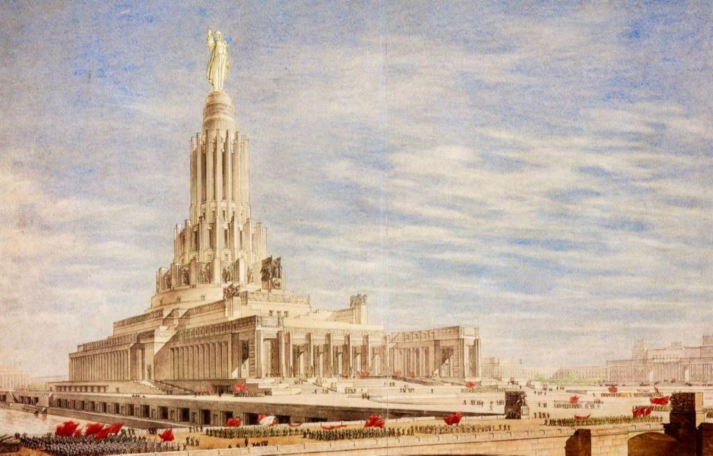 проект высотки Дворца Советов